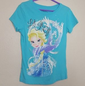Disney Frozen Let it go Tee Top Elsa Ana Winter